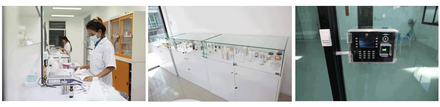 ภาพห้องแลปพัฒนาสูตรครีมพอกหน้า บริษัท iBio